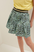 MINI GONNA LEOPARDO CON ELASTICO MENTA