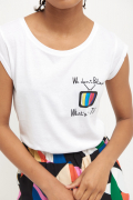 T-SHIRT WE DON'T BELIEVE TV BIANCO