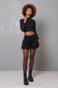 SHORT/GONNA TG VIVO NERO