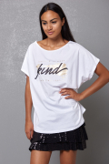 T-SHIRT OVER STAMPA KIND UNICO